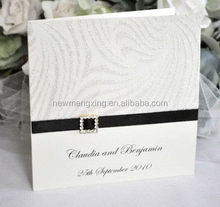 Latest best sell handcrafted wedding invitation card
