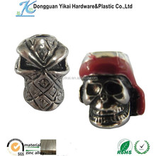 Dongguan YiKai metal alloy skull ,metal Chrome skulls,skull charm pendant