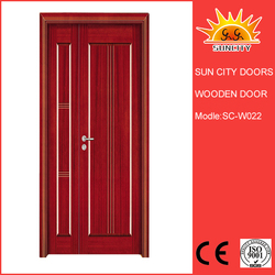 Main entrance used home low price wooden door SC-W022