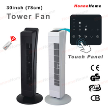 """30"""" 78cm height electric tower fan with remote control"""