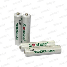 soshine ready to use rechargable Ni-MH batteries AAA 1.2v 1000mah