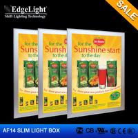 Edgelight Wholesales Customized Size aluminum led display light box UL Approved