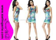 galaxy dress Autumn outfits for women elastic Vest tops Cheshire Cat dress Wholesale