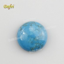 Glue Round Cabochon Natural Blue Turquoise