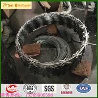 razor blade barbed wire toilet seat/razor wire prison fence/razor wire fencing