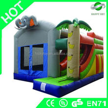 Promotional Brand New Design combo inflatable slide, tiger inflatable slide, everest inflatable slide