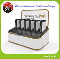 Universal Portable Restaurant Cell Phone Charger with 6pcs Charger 5000mAh Cell Phone Charging Station