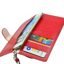 PU Leather pc Foldable wallet Universal Case Cover For phone