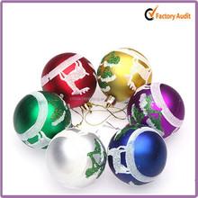 6cm Mixed Color Christmas Bauble Solar Christmas Baubles Christmas Baubles Hanging Decoration
