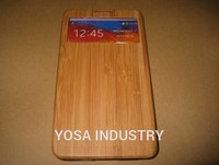For Samsung Galaxy Note 3 Note3 N9000 Cell Phone Delicate Genuine Natural Bamboo Leather Flip Cover Phone Stand Case