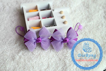 Cute baby purple bowknot headband/Hair Accessories with hair clip for girls hair