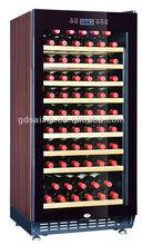 60-68bottles brown wooden colour compressor SRW-68S wine refrigerator