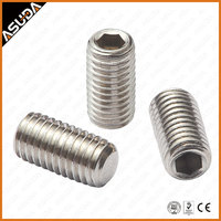 STAINLESS STEEL & GALVANZIED STEEL DIN 913 SET SCREW WITH FLAT POINT