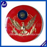 eagle enamel color metal plate