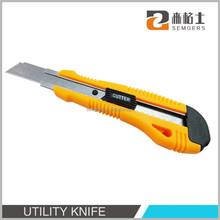 ABS plastic handle sliding blade cutter knife types, retractable blade cutter knife types