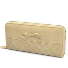 Lovely zipper bowknot ladies wallet/ ladies purse