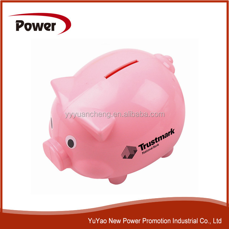 2015 Personalized Plastic Piggy Bank Kids Plastic Piggy