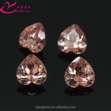 Alibaba supplier color change machine cut heart shape fake diamond wholesale