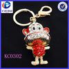 Hot Sale Fancy Stitched mouth Monkey Richly Colorful Metal keychains
