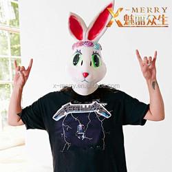 X-MERRY lovely ear colorful Rabbit Mask Interesting costume mask paradise creature erection bunny girl mask