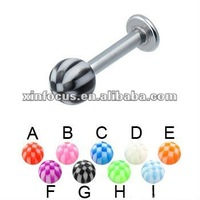 Hot Sale For Multicolor Balls Cheap Charming Labret Ring Lip Rings Body Piercing Jewelry