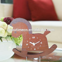 Modern design home decorating horse wooden table clock/time clock