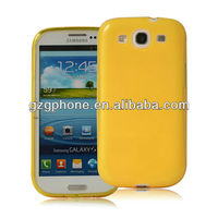 clear color and flexible tpu case for samsung galaxy s3