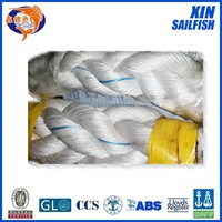 cheap price 8 strand braided rope , pp monofilament 8 strand rope , polypropylene danline braided marine ropes