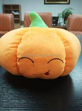 Smail Face Emdroied felt pumpkin for halloween decoration