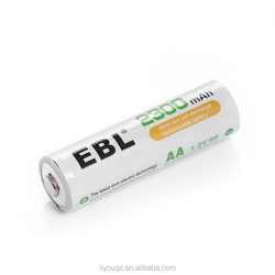 EBL Basic 4Packs AA 2300mAh High Capacity AA Rechargeable Batteries with Free Storage Cases