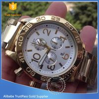 Excellent quality classical stainless steel watch for young people