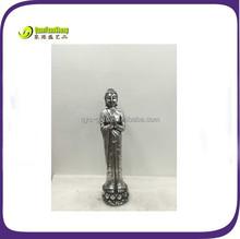 Resin praying female buddha statue