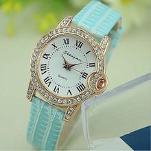 2015 New Fashion Women Watches Leather Band Women Casual Quartz Wrist Watch Mvmt wristwatches