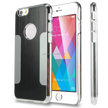 2015 NEW Arrival fashion gold Luxury Brushed Aluminum steel Chrome Hard Case Cover for iphone 6 4.7