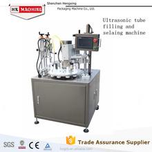 Automatic paste cream aluminum tube filling and sealing machine