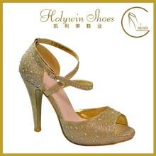 2015 high quanlity comfortable sole peep toe women sexy high heel shoe