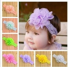 Infant Girls Flower Headbands Baby Boy and Girl Floral Hair Headband