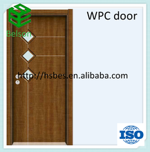 WPC door/bathroom door/toilet door/waterproof like mdf door skin