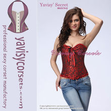 Open hot High quality colorful impressionistic printing demin sexy fantasy corsets