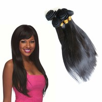 """3pcs/lot 16"""" 100 african human kinky straight yaki hair weave brands extensions paypal"""