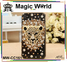 glitter tiger rhinestone phone case,cheap phone cover for iphone 6