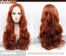 Brown dark body wave lacefront wigs