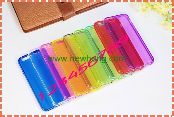 clear tpu back cover case for iphone 6