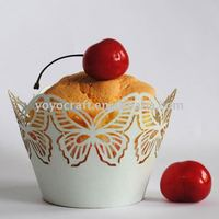 """wedding supply laser cut filigree cupcake wrapper""""big butterly"""" for wholesale and retail"""