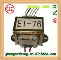 EI 76 series 30.0va to 50.0va transformer 200v 110v