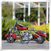Wholesale Old Model Motorcycle Crafts, Red Metal Art Motorcycle, Handmade Metal Motorcycle Model for Home Decoration