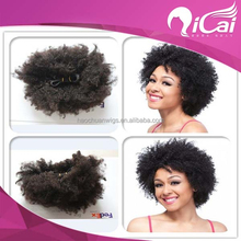 Qicai original remy curly cheap aliexpress hair 100% indian human hair temple natural raw unprocessed wholesale virgin Indian ha