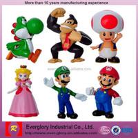 OEM Super Mario plastic figure toys, Cartoon action figures,custom plastic toy figure