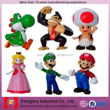 OEM Super Mario plastic figure toys, Cartoon action figures,custom plastic toy figure