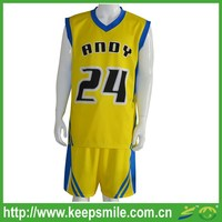 Custom Sublimation Basketball Uniform with Vest and Short